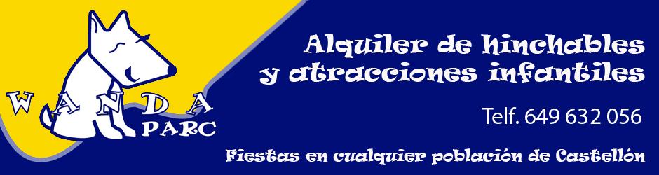 Alquiler de castillos hinchables Wandaparc Castellon y Villarreal Logo